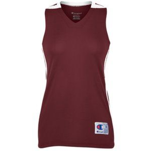 Champion Maroon Double Dry Basketball Jersey XS